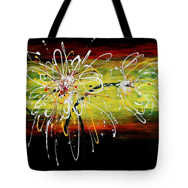 Sunset Flowers Tote Bag by Kume Bryant