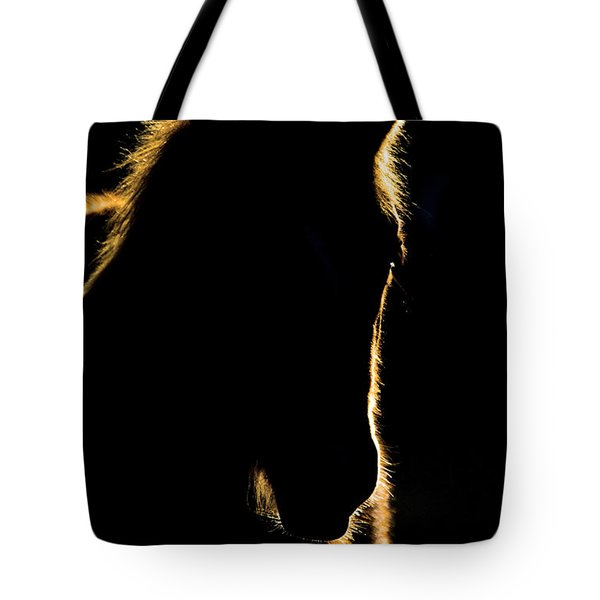 Sunset Horse Silhouette Canada Tote Bag by Mark Duffy