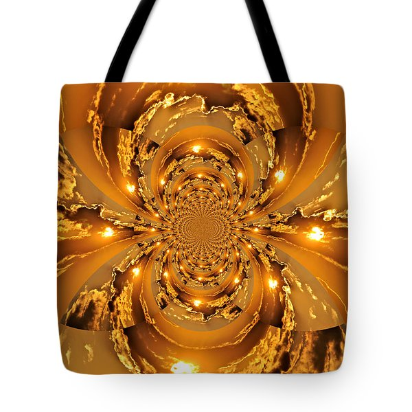 Sunset Kaleidoscope 4 Tote Bag by Marty Koch