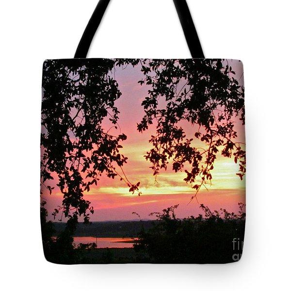 Sunset Over Canyon Lake Tote Bag by Randi Shenkman