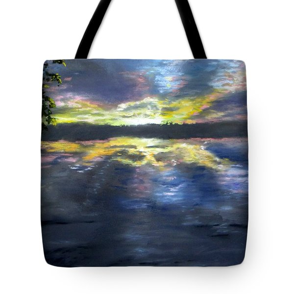 Sunset Over Mystic Lakes Tote Bag by Jack Skinner