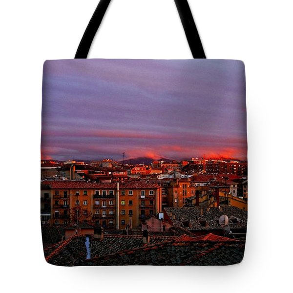 Sunset Over Segovia ... Tote Bag by Juergen Weiss