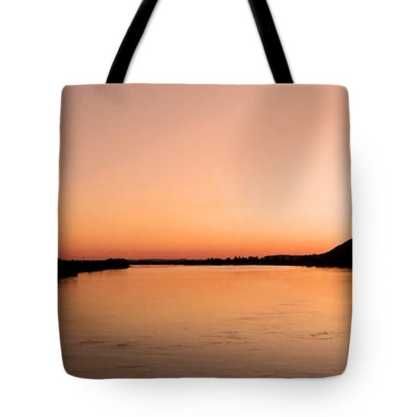Sunset Over The Danube ... Tote Bag by Juergen Weiss