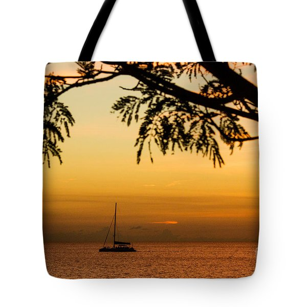 Sunset Sail Tote Bag by Rene Triay Photography