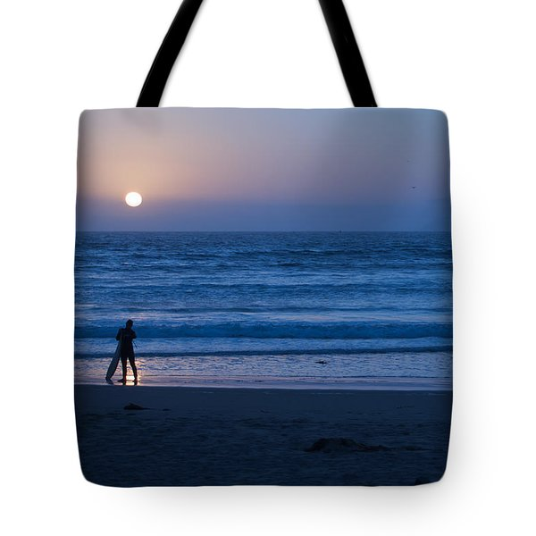 Sunset Surfer Tote Bag by Heidi Smith