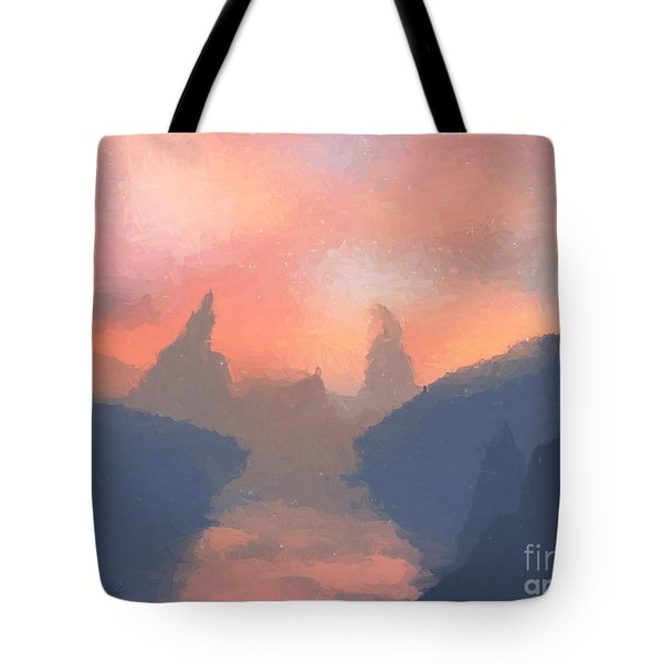Sunset Valley  Tote Bag by Pixel  Chimp