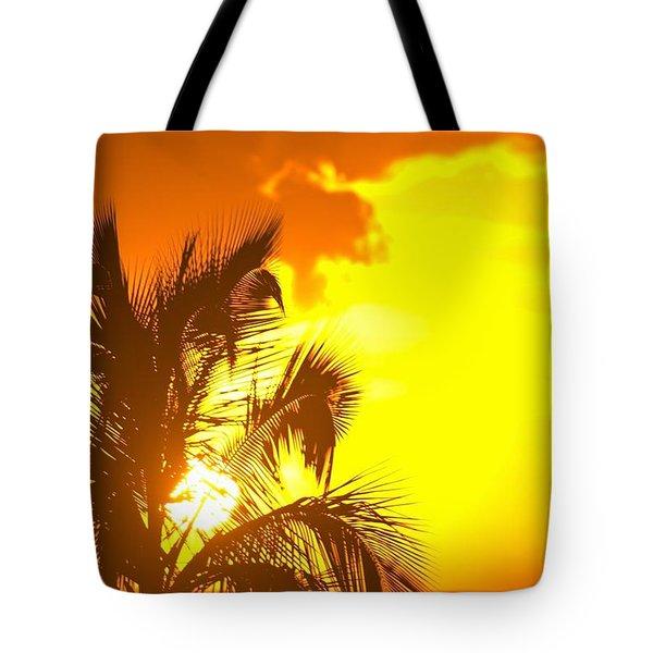 Sunset, Wailea, Maui, Hawaii, Usa Tote Bag by Stuart Westmorland