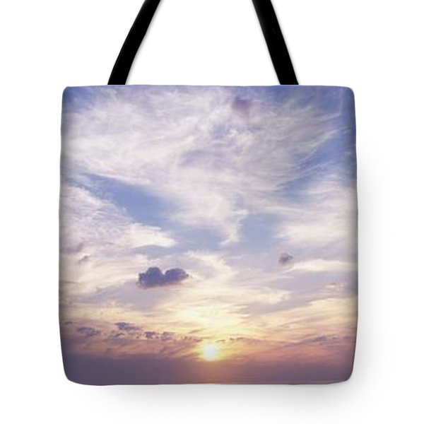 Sunsets Over The Beach, Magheraroarty Tote Bag by The Irish Image Collection