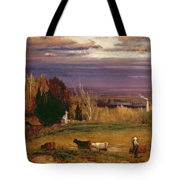 Sunshine After Storm Or Sunset Tote Bag by George Snr Inness