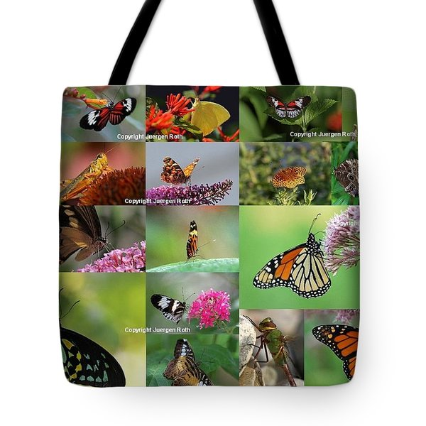 Sunshining Love Bugs Tote Bag by Juergen Roth