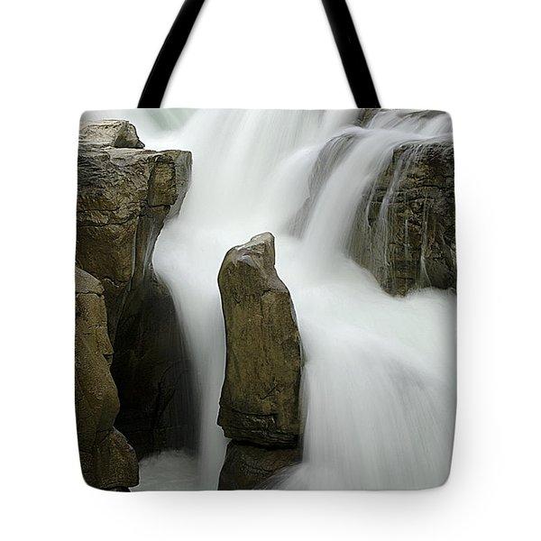 Sunwapta Falls 2 Tote Bag by Bob Christopher