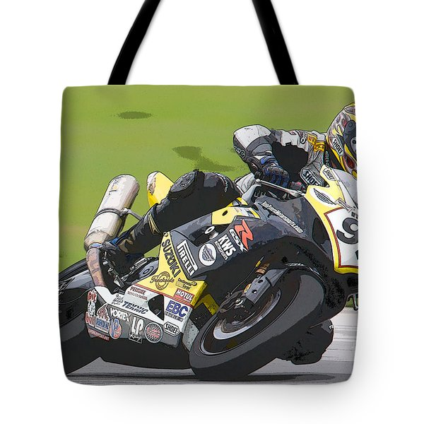 Superbike Racer II Tote Bag by Clarence Holmes