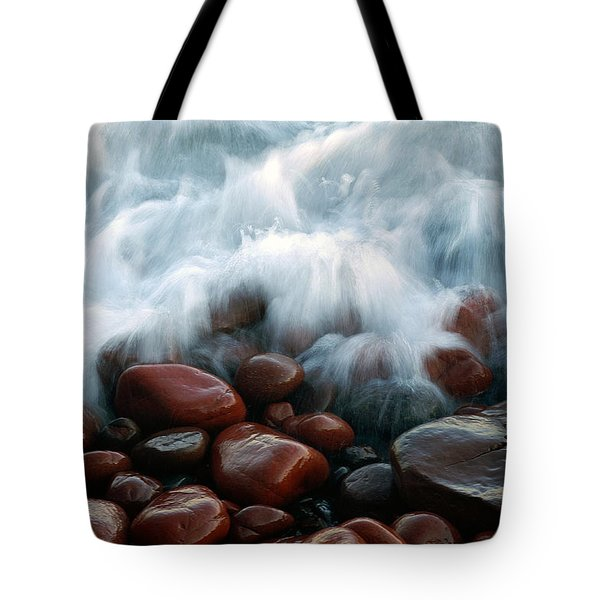 Superior On The Rocks Tote Bag by Bill Morgenstern