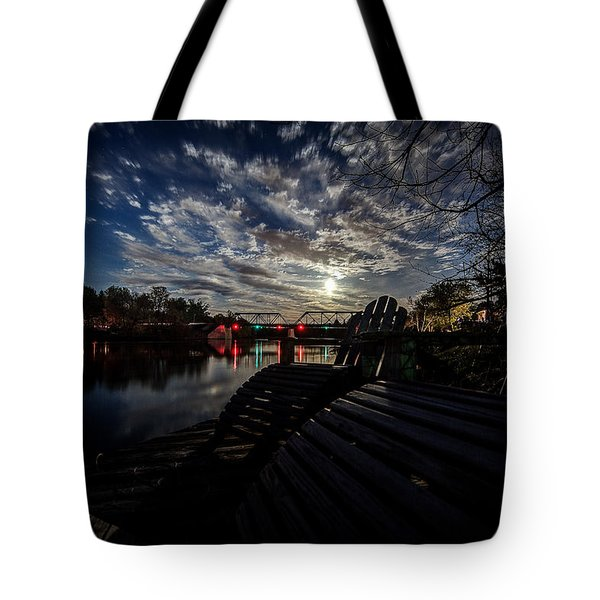 Supermoon Tote Bag by Everet Regal