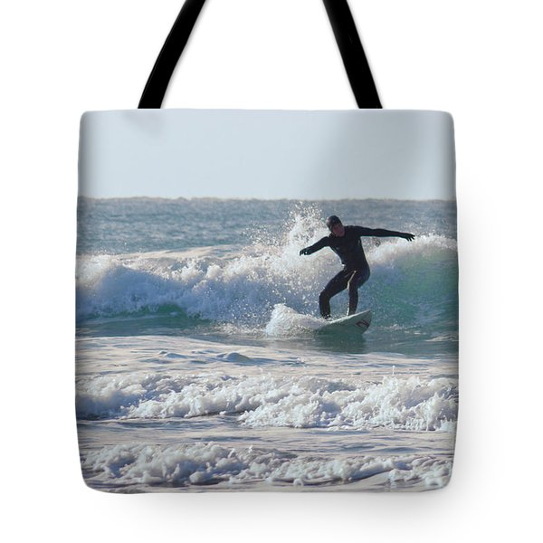 Surfing The Atlantic Tote Bag by Brian Roscorla