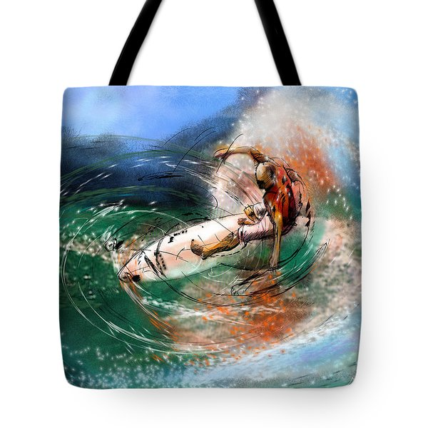 Surfscape 03 Tote Bag by Miki De Goodaboom