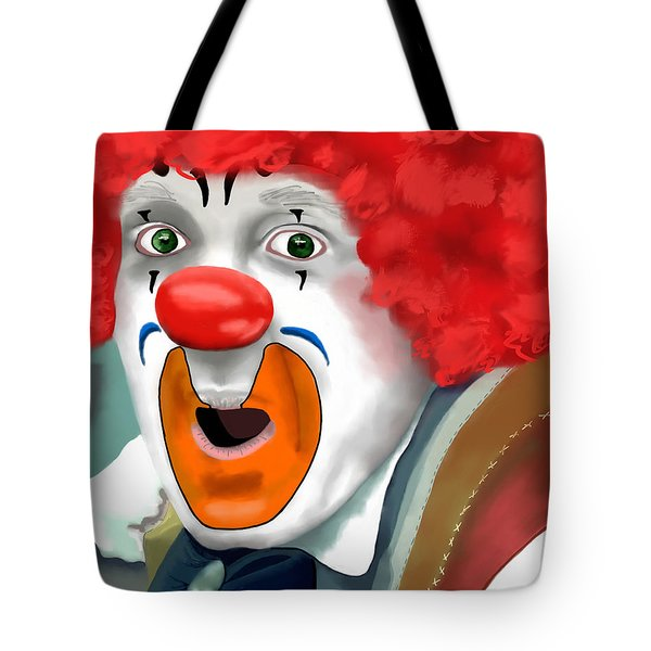 Surprised Clown Tote Bag by Methune Hively