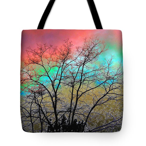 Surreal Winter Sky Tote Bag by Will Borden