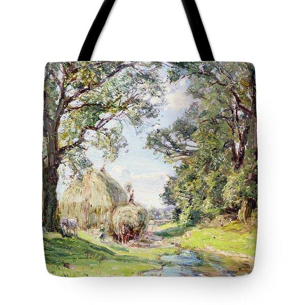 Surrey Landscape  Tote Bag by Edmund George Warren