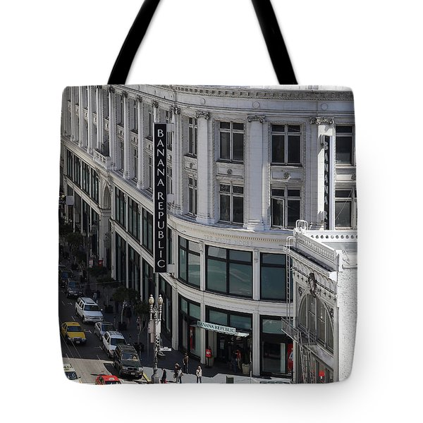 Sutter Street East View Tote Bag by Wingsdomain Art and Photography