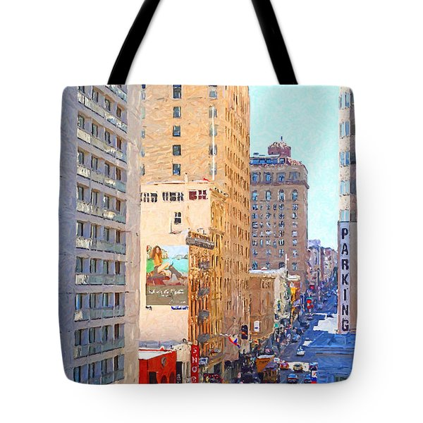 Sutter Street San Francisco Tote Bag by Wingsdomain Art and Photography