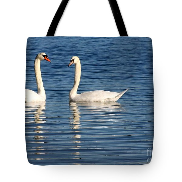 Swan Mates Tote Bag by Sabrina L Ryan