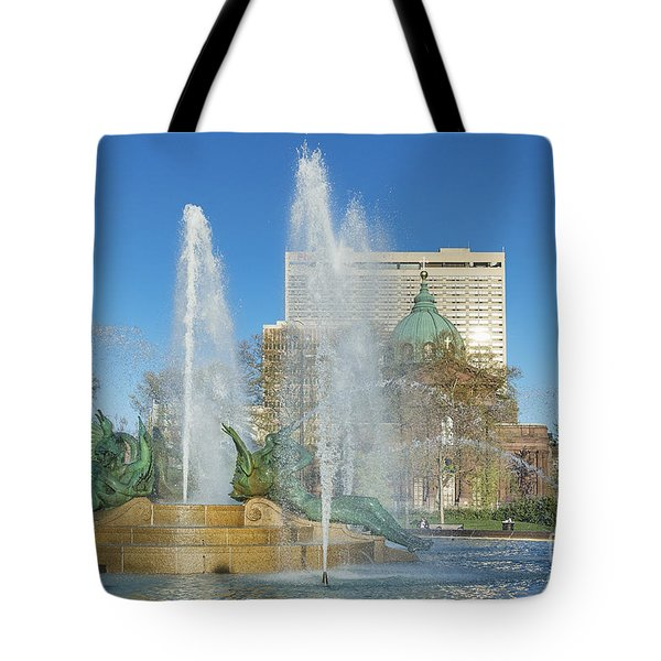 Swann Fountain at Logan's Circle Tote Bag by John Greim