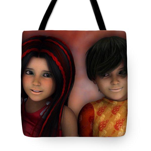 Swarthy Twins Tote Bag by Jutta Maria Pusl