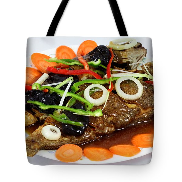 Sweet And Sour Fish Chinese Food Tote Bag by Paul Ge