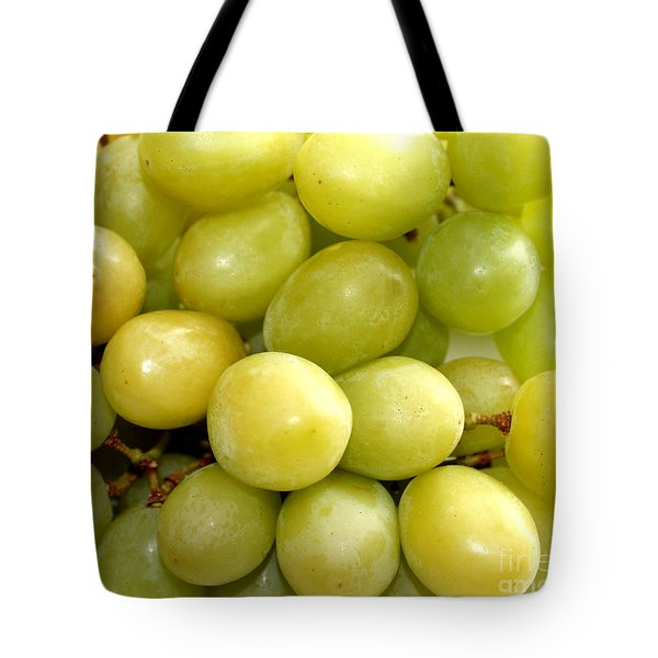 Sweet Green Grapes Tote Bag by Barbara Griffin