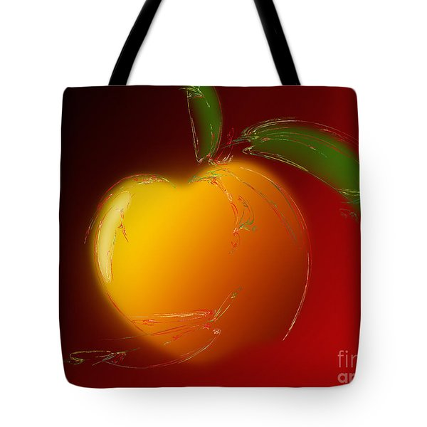Sweet Peach 1 Tote Bag by Andee Design