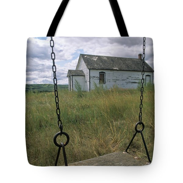 Swing At Old School House, Quappelle Tote Bag by Dave Reede
