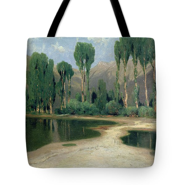 Swiss Landscape Tote Bag by Alexandre Calame