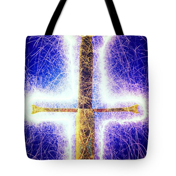 Sword With Sparks Tote Bag by Garry Gay