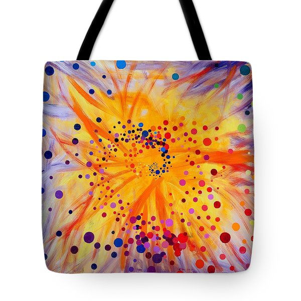 Symmetry Breaking Tote Bag by Regina Valluzzi