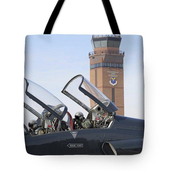 T-38 Talon Pilots Make Their Final Tote Bag by Stocktrek Images