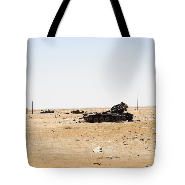 T-55 Tanks Destroyed By Nato Forces Tote Bag by Andrew Chittock
