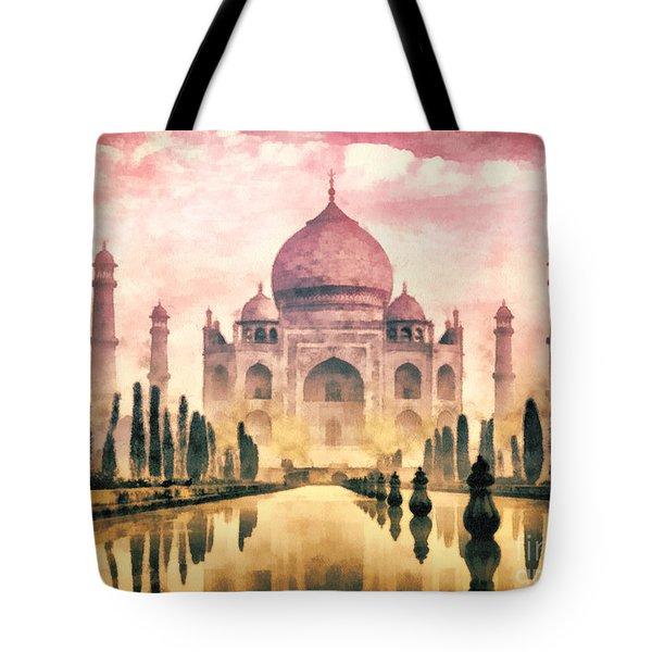 Taj Mahal Tote Bag by Mo T