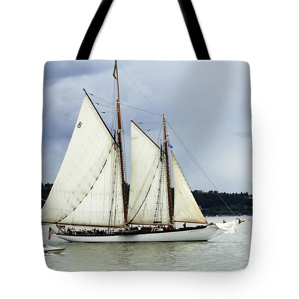 Tall Ship Tacoma Tote Bag by Bob Christopher