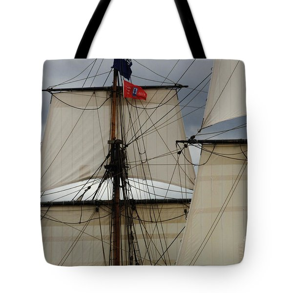 Tall Ships Tote Bag by Bob Christopher