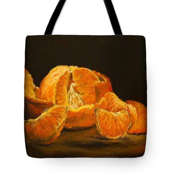Tangerine Tango Tote Bag by Diane Kraudelt