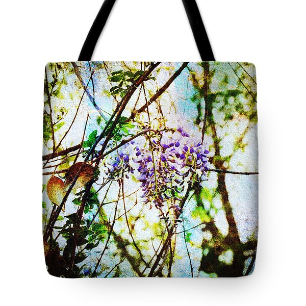 Tangled Wisteria Tote Bag by Andee Design