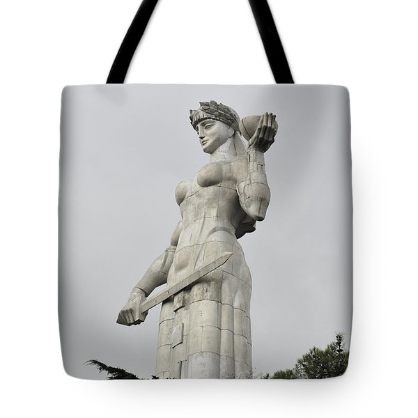 Tbilisi Mother Of Georgia Statue Tote Bag by Amos Gal