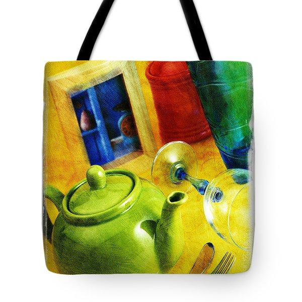 Tea Pot Tote Bag by Mauro Celotti