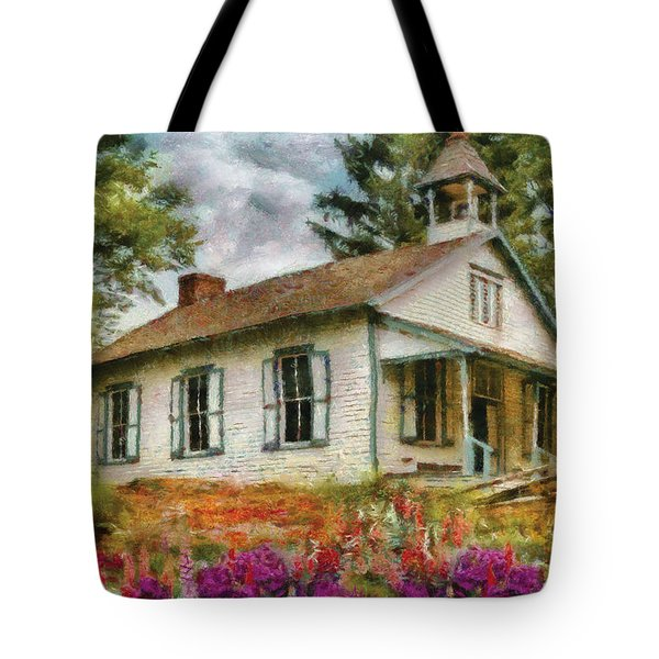 Teacher - The School House Tote Bag by Mike Savad