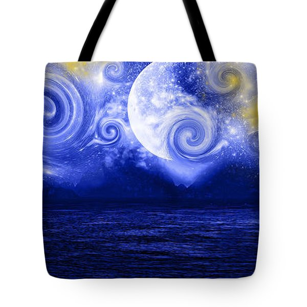 Tempestuous Night Tote Bag by Lourry Legarde