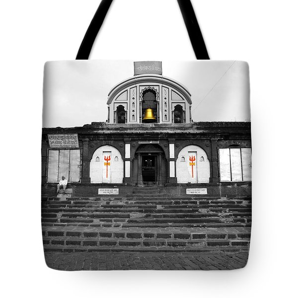 Temple At India Tote Bag by Sumit Mehndiratta