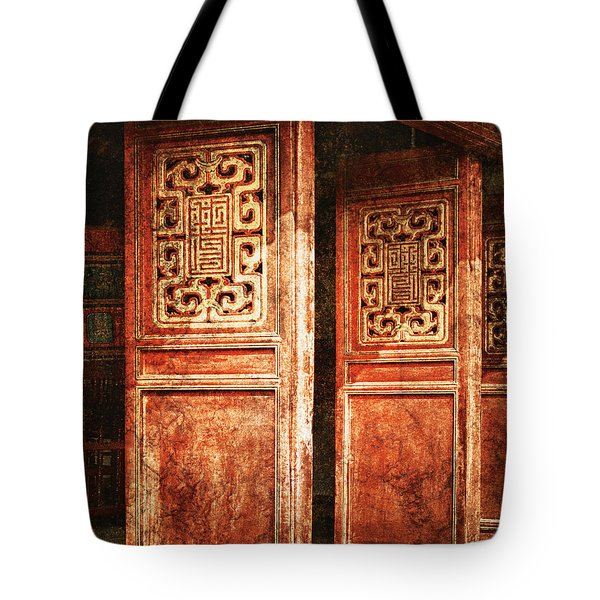 Temple Door Tote Bag by Skip Nall