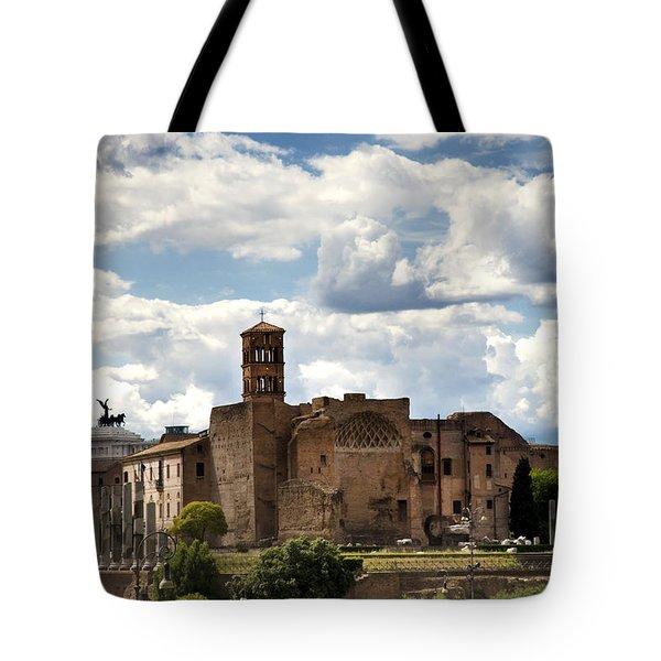 Temple Of Venus And Roma Tote Bag by Fabrizio Troiani