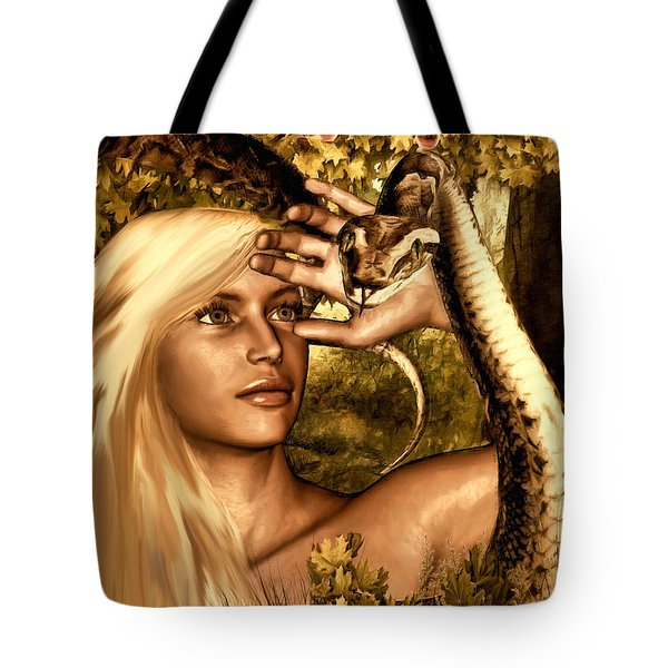 Temptation Tote Bag by Lourry Legarde